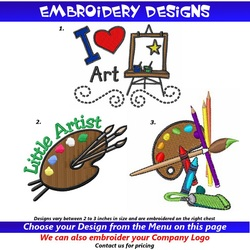 Kids Artist Smocks Embroidery Designs